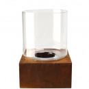 wholesale Wind Lights & Lanterns: Metal Lantern Tiron on metal plate 20x20cm